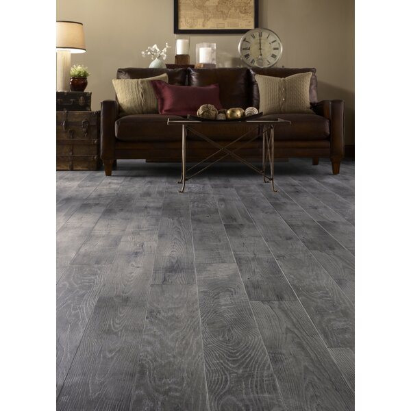 Restoration 6'' x 51'' x 12mm Historic Oak Laminate Flooring in Slate by Mannington