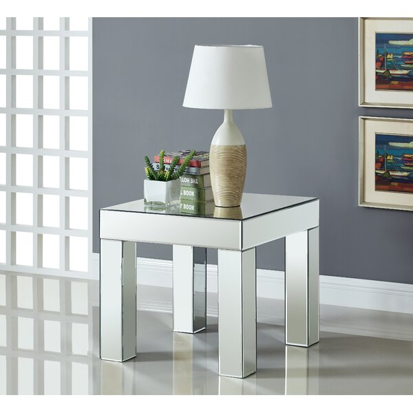 Nevels Mirrored End Table by House of Hampton