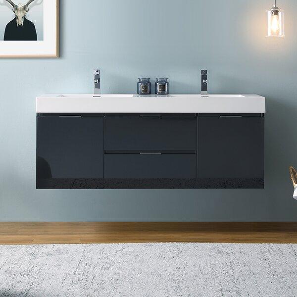 Senza Valencia 60 Wall Mounted Double Bathroom Vanity Set