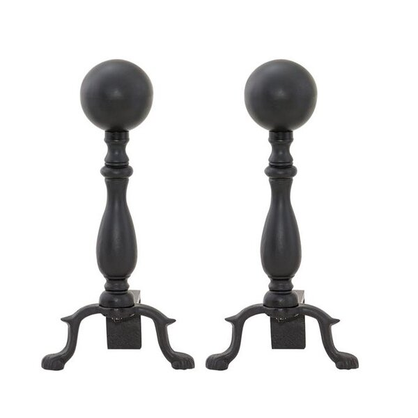 Black Ball Andiron (Set of 2) by Uniflame Corporation