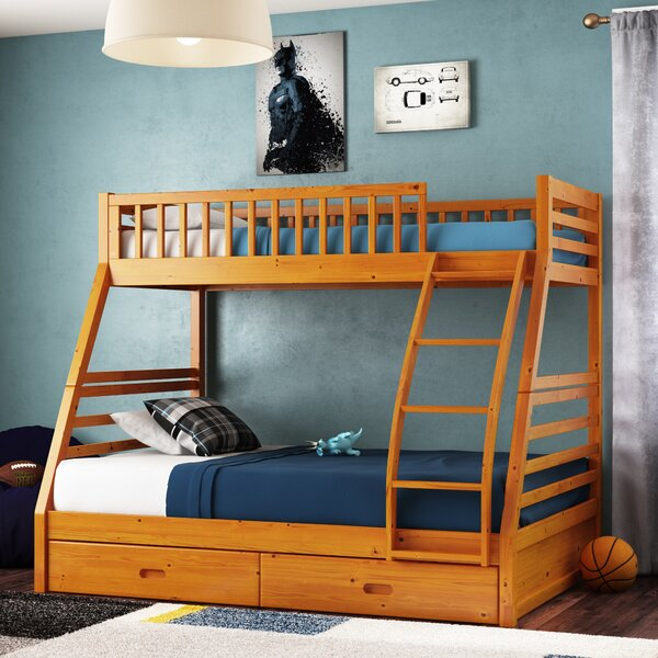 Claret Twin Over Full Bunk Bed with Drawers by Harriet Bee