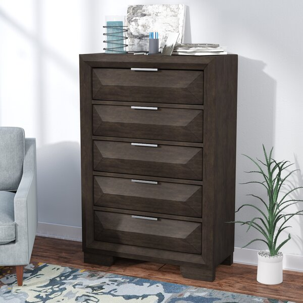 New Design Richburg 5 Drawer Standard Chest By Latitude Run Great Reviews
