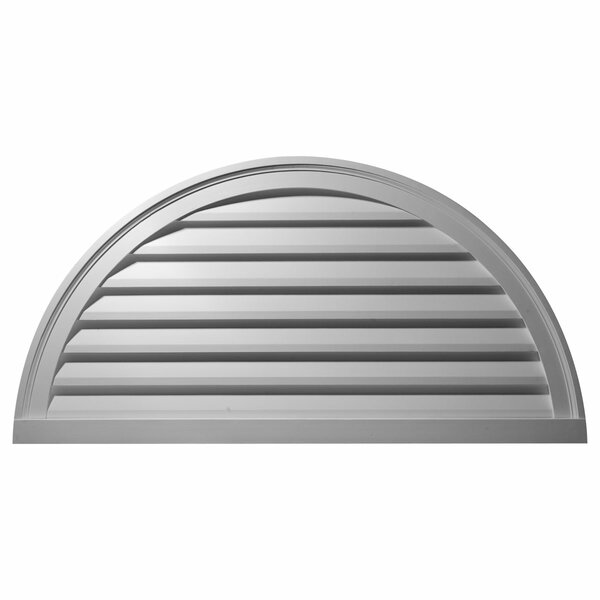 30H x 60W Half Round Gable Vent Louver by Ekena Millwork