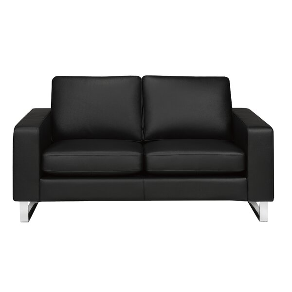 Modern Style Keown Genuine Leather Loveseat by Orren Ellis by Orren Ellis