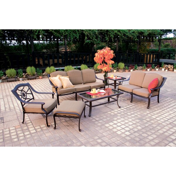 Thompsontown 6 Piece Sofa Set with Cushions by Alcott Hill