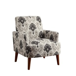 Eugenia Contemporary Wood Arm Chair by Bungalow Rose