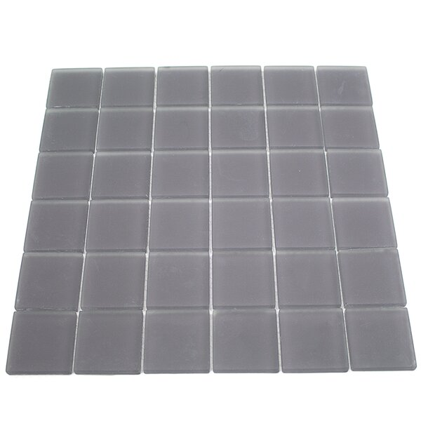 Contempo 2 x 2 Glass Mosaic Tile in Smoke Gray by Splashback Tile