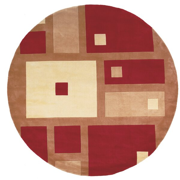 User Hand-Tufted Red Area Rug by Ebern Designs