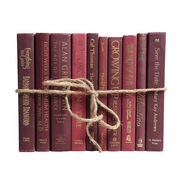 Authentic Decorative Books - By Color Modern Bordeaux ColorPak (1 Linear Foot, 10-12 Books) by Booth & Williams
