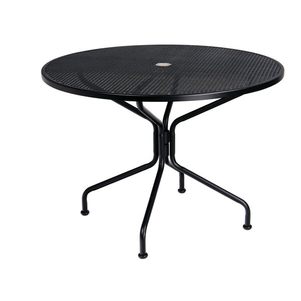 Mesh Top Metal Dining Table by Woodard