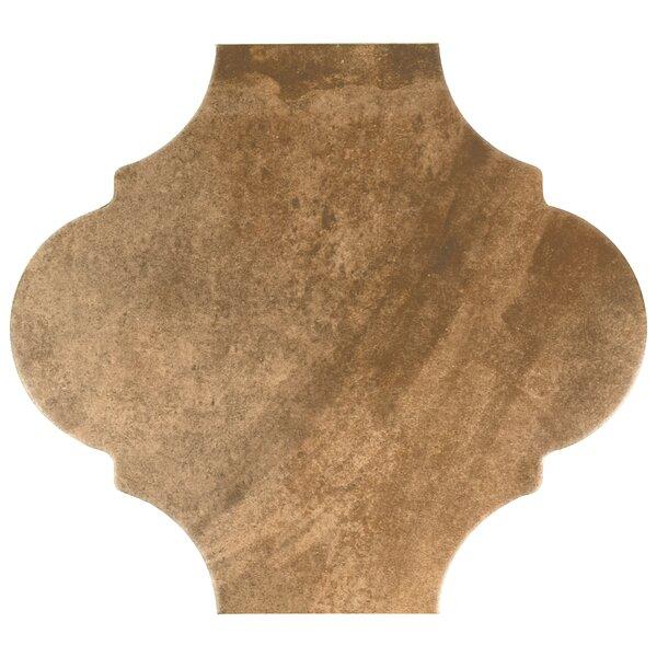 Mezcla 10.38 x 11.38 Porcelain Field Tile in Provenzal Clay by EliteTile