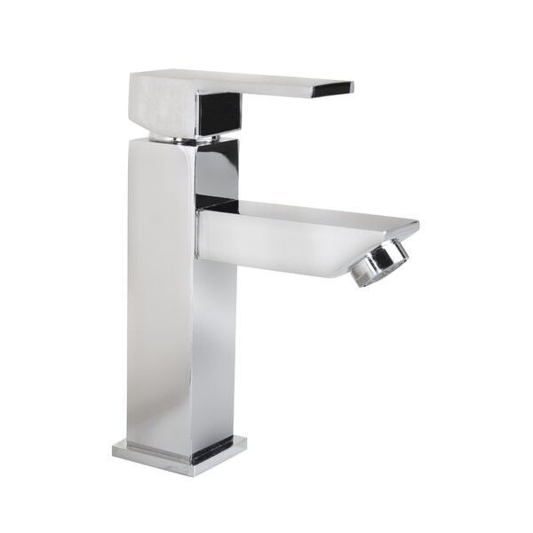 Grace Square Modern Monobloc Single Hole Bathroom Faucet by Flairwood Decor