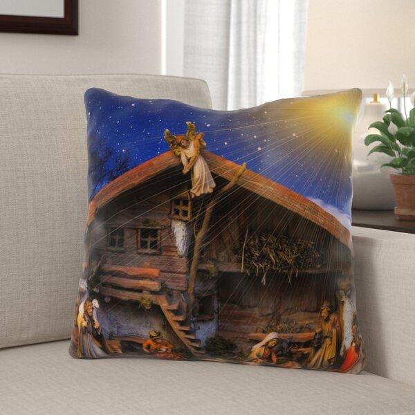 Eustace Christmas Indoor/Outdoor Canvas Throw Pillow