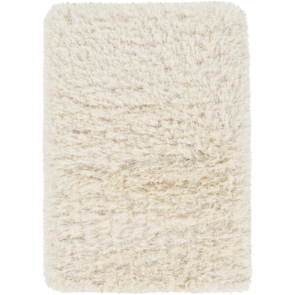 Sina Hand-Woven Peach Cream Area Rug by Bungalow Rose