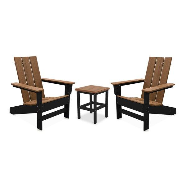 Oakdale 3 Piece Seating Group by Breakwater Bay