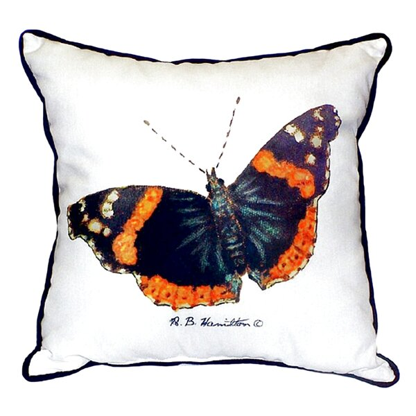Red Admiral Butterfly Indoor/Outdoor Throw Pillow