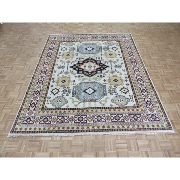 One-of-a-Kind Padula Tribal Hand-Knotted Wool Ivory Area Rug by Bloomsbury Market