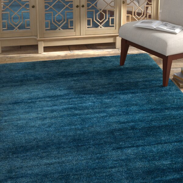 Nondoue Teal Area Rug by Bungalow Rose