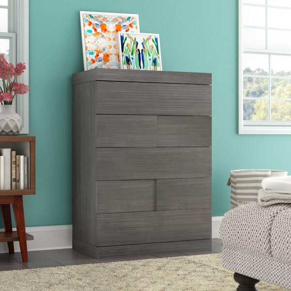 Yusuf 5 Drawer Chest by Wade Logan