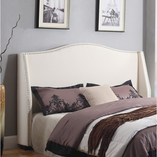 Queen Upholstered Wingback Headboard by BestMasterFurniture BestMasterFurniture