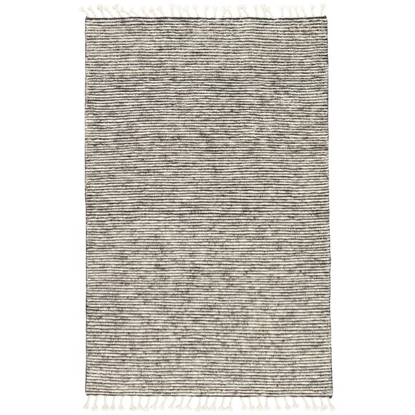 Portofino Stripe Hand-Knotted Gray Area Rug by Gracie Oaks