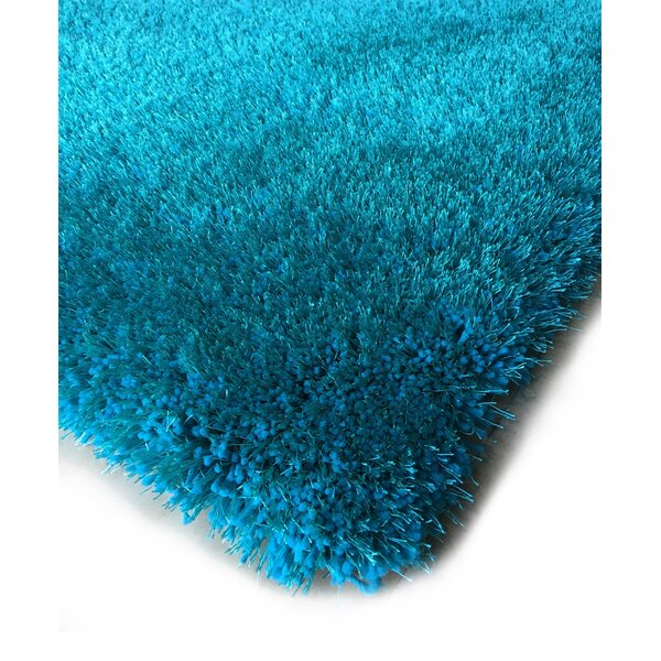 Hand-Tufted Turquoise Area Rug by Rug Factory Plus