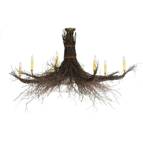 8-Light Candle Style Classic / Traditional Chandelier by Meyda Tiffany Meyda Tiffany