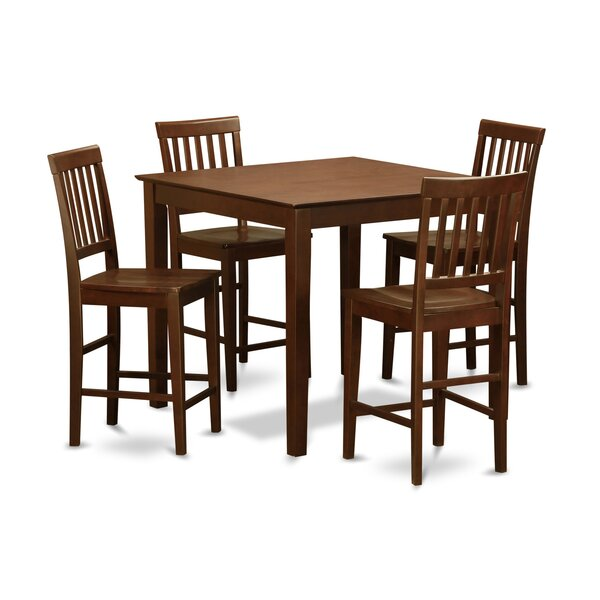 Sotomayor 5 Piece Counter Height Pub Table Set by Charlton Home Charlton Home