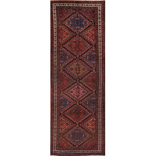 Best Deals One-of-a-Kind Tyra Traditional Malayer Persian Hand-Knotted Runner 3'4 x 9'6 Wool Brown/Black Area Rug By Isabelline