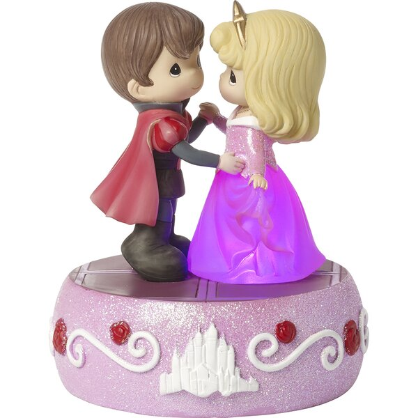 Disney Showcase Aurora Light Up Music Box Dancing on A Dream Sleeping Beauty Figurine by Precious Moments