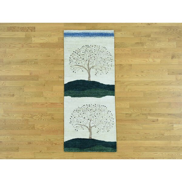 One-of-a-Kind Becker Pictorial Design Hand-Knotted Wool Area Rug by Isabelline