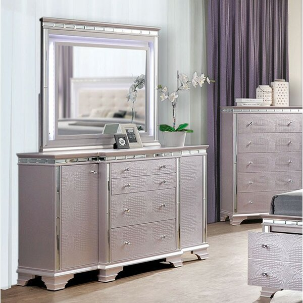 Askerby 4 Combo Dresser with Mirror by House of Hampton