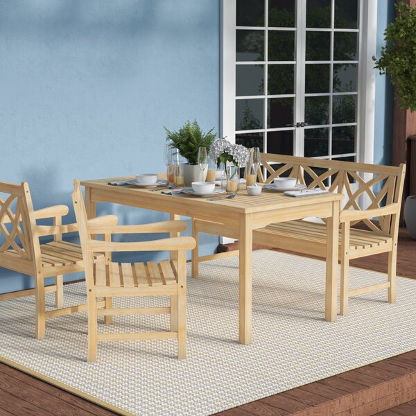 Baskerville Outdoor 4 Piece Dining Set by Darby Home Co