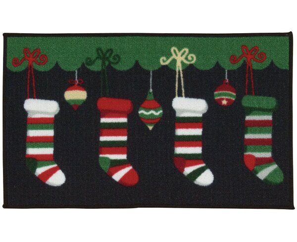 Black/Green Area Rug by The Holiday Aisle