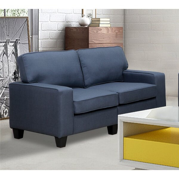 Charlee Linen Modern Living Room Loveseat by Winston Porter