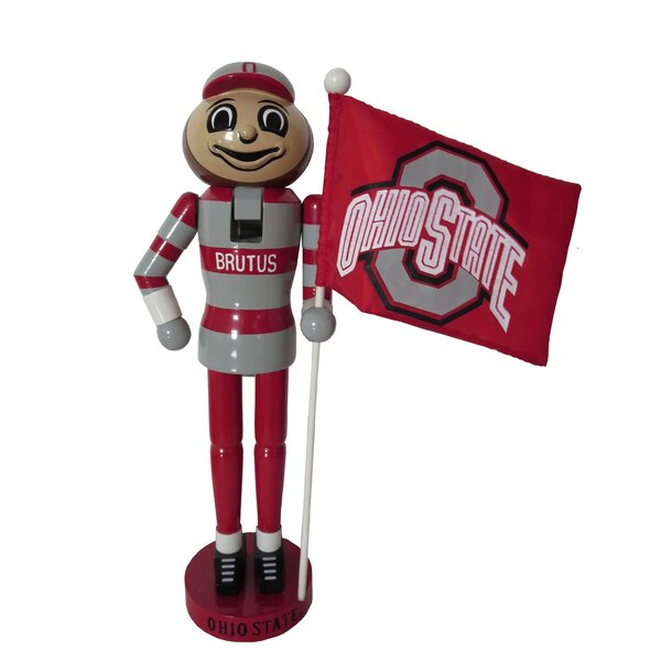 NACC OH State Mascot Flag Nutcracker by Santa's Workshop