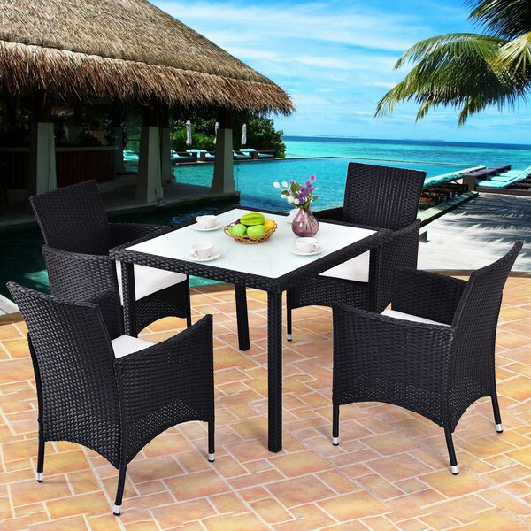 Varner Outdoor 5 Piece Rattan Sofa Seating Group Set by Bay Isle Home
