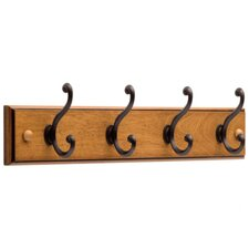 4 Scroll Hook Rail by Liberty Hardware