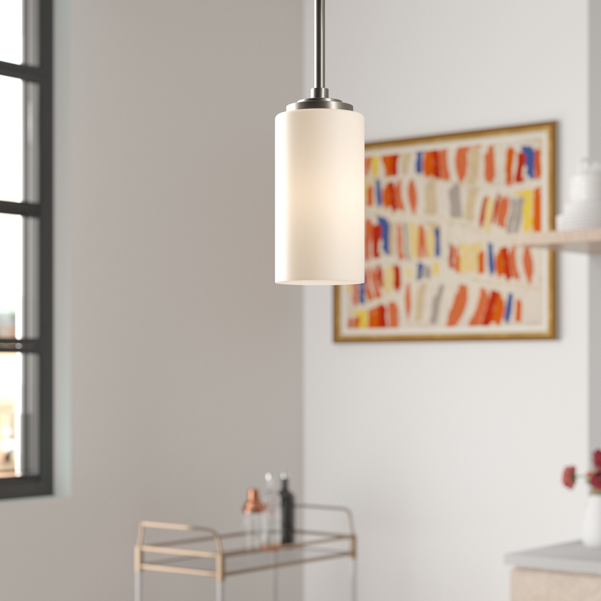 Latitude Run Breithaup 1 Light Single Cylinder Pendant Reviews Wayfair