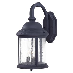 Read Reviews Hancock 3-Light Outdoor Wall Lantern By Great Outdoors by Minka
