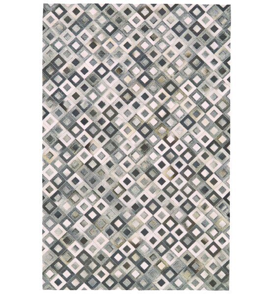 Alysa Hand-Stitched Gray/Beige Area Rug by 17 Stories