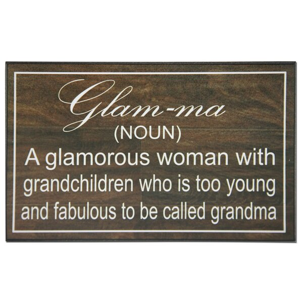 Glamma Textual Art Plaque by African American Expressions