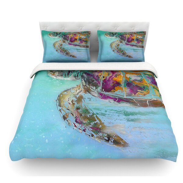 Mommy by Josh Serafin Turtle Featherweight Duvet Cover by East Urban Home