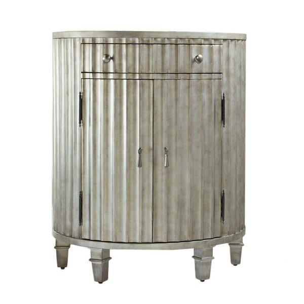Melange Fluted Demilune 1 Drawer Accent Cabinet by Hooker Furniture