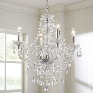 Crystal Chandelier Dining Room crystal chandeliers you'll love | wayfair