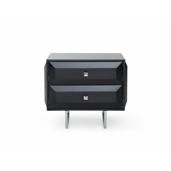 Sicard 2 Drawer Nightstand by Orren Ellis