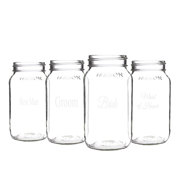 Isadora Party Mason Jar (Set of 4) by Charlton Home