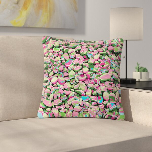 Empire Ruhl Rocks Spring Abstract Nature Outdoor Throw Pillow by East Urban Home
