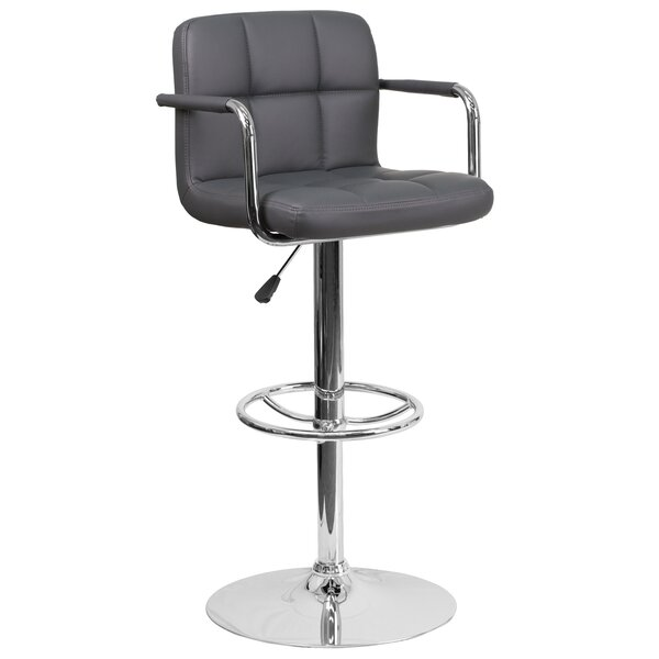 Noblitt Adjustable Height Swivel Bar Stool by Orren Ellis