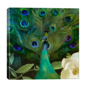 Aqua Peacock Canvas Art by Color Bakery by iCanvas